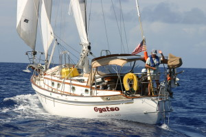 Photo: Tayana 37 Gyatso on the Atlantic.